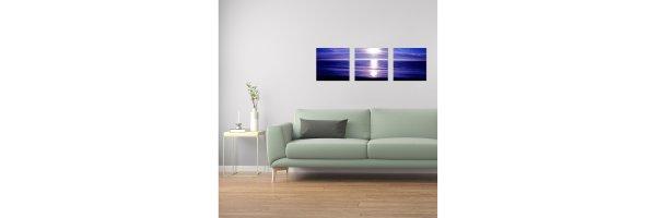 Mehrteilige Acryl Bilder 90x30 cm - Horizontal