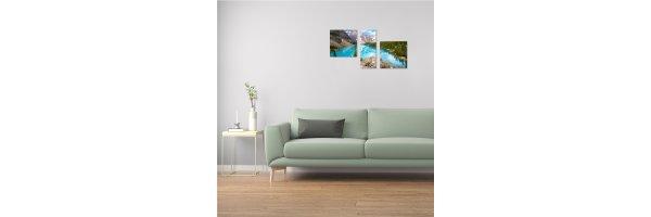 Mehrteilige Acryl Bilder 90x50 cm