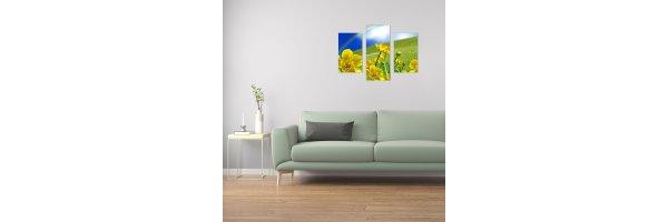 Mehrteilige Acryl Bilder 90x70 cm