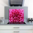 Herdabdeckplatten 60x52 / 2x30x52 Ceranfeld Deko Spritzschutz Glas Blumen Pink Natur Universal