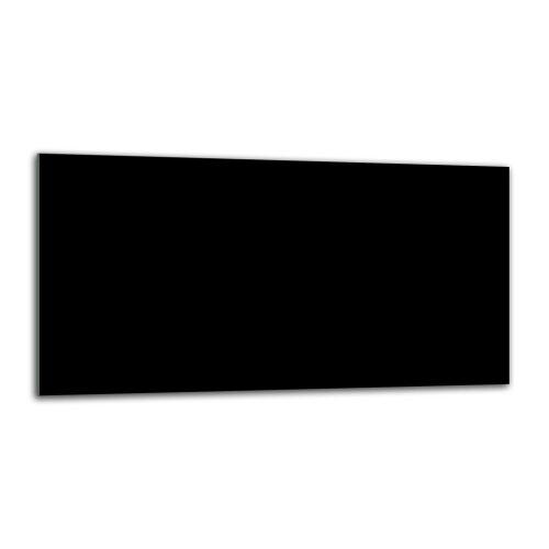 Küchenrückwand 80x40 Glas Spritzschutz Herd Spüle Fliesenschutz Küche Schwarz
