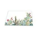 Herdabdeckplatten 80x52 / 2x40x52 Ceranfeld Spritzschutz Glasplatte Universal Deko Blumen Grün