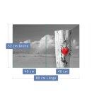 Herdabdeckplatten 2x40x52 Ceran Spritzschutz Glas Universal 2-Teilig Herz Grau