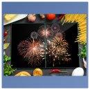 Herdabdeckplatten 2x40x52 Spritzschutz Glas Universal...