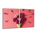 Herdabdeckplatten 2x40x52 Ceran Spritzschutz Glas...