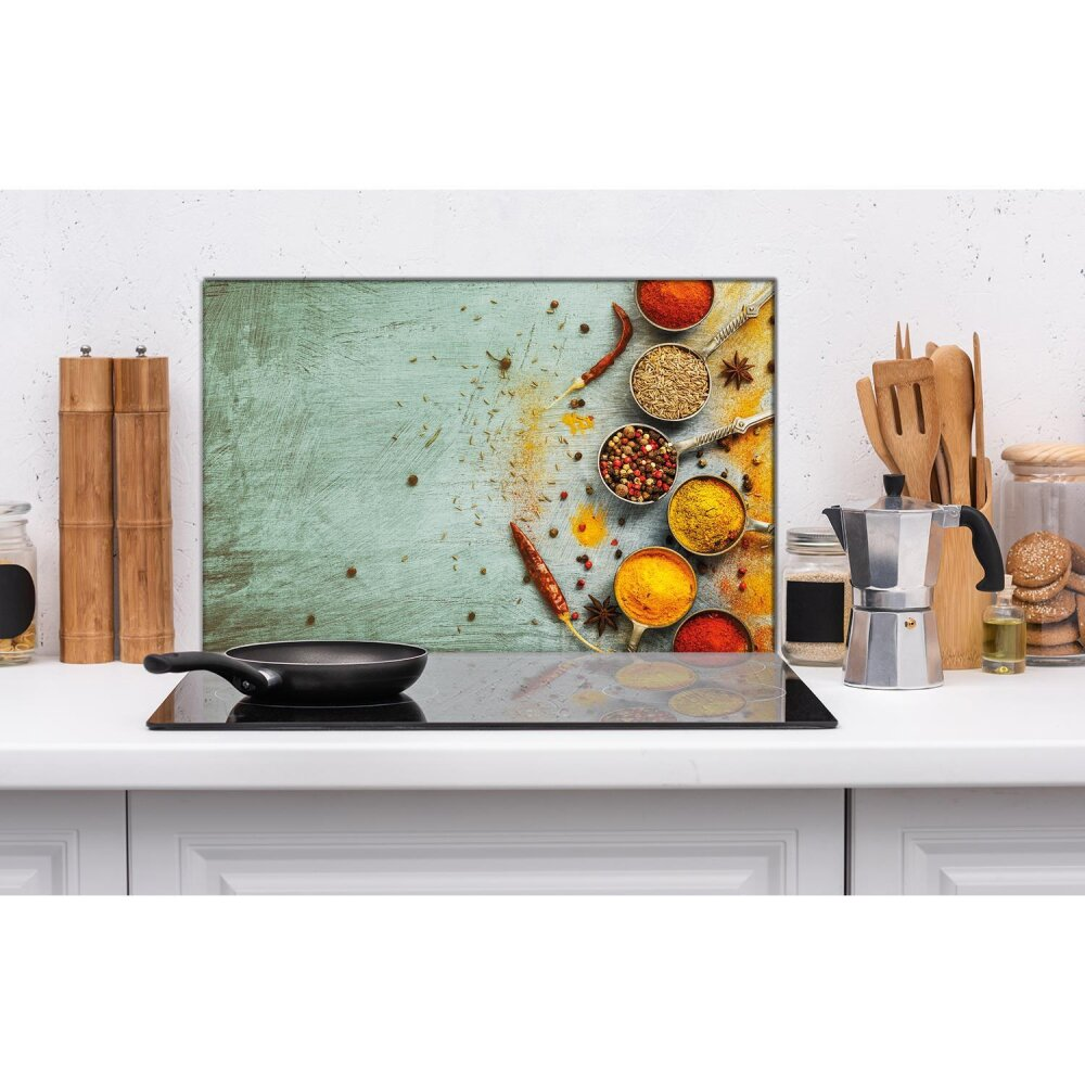 Ceranfeldabdeckung 2x40x52 cm Kaffee Braun Herdabdeckplatten Spritzschutz Glas