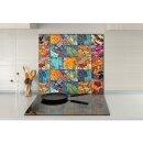 Küchenrückwand 65x60 Glas 60x65 Spritzschutz...