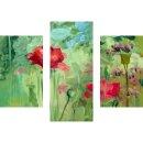 Wandbilder Abstrakt Grün 90x70 Glas 3 Teilig Acryl...