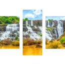 Wandbilder Landschaft Bunt 90x70 Glas 3 Teilig Acryl Bild...