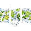 Wandbilder Obst Grün 90x70 Glas 3 Teilig Acryl Bild...
