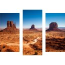 Wandbilder Landschaft Orange 90x70 Glas 3 Teilig Acryl...
