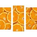 Wandbilder Obst Orange 90x70 Glas 3 Teilig Acryl Bild...