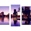 Wandbilder Stadt Violett 90x70 Glas 3 Teilig Acryl Bild...