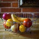 Abtropfgestell Rund 34 cm Verchromten Stahl Klein für Obst Geschirrtrockner
