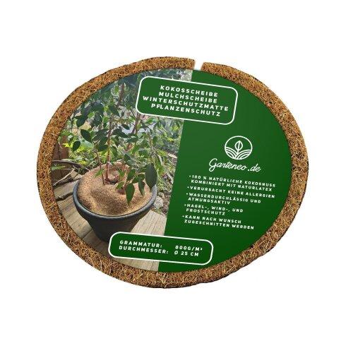 Kokosscheibe Mulchscheibe Winterschutz Pflanzenschutz Frostschutz 800g/m O 25