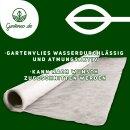 Gartenvlies Unkrautvlies 30g/m2 Pflanzvlies Winterschutz Schutz 48m2 (15mx3,2m)