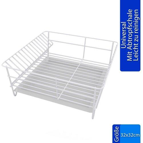 Abtropfgestell Quadratisch 32x32 Stahl Abtropfgitter Abtropfschale Küche Teller