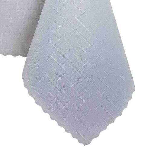 Tischdecke Abwaschbares Tischtuch Schmutzabweisend Wasserabweisend 90x90cm Weiß