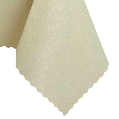 Tischdecke Abwaschbares Tischtuch Schmutzabweisend Wasserabweisend 90x90cm Ecru