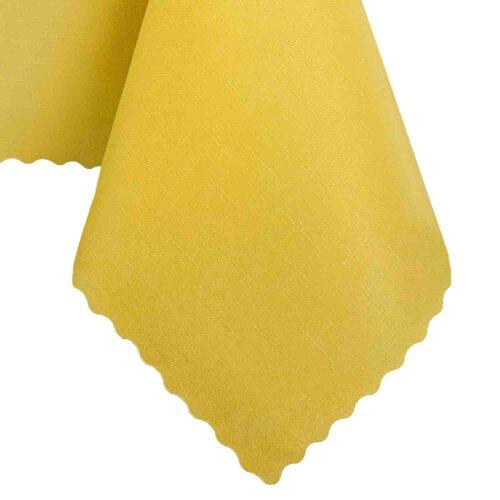 Tischdecke Abwaschbares Tischtuch Schmutzabweisend Wasserabweisend 90x90cm Gelb