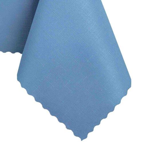 Tischdecke Abwaschbares Tischtuch Schmutzabweisend Wasserabweisend 90x90cm Blau