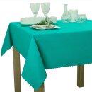 Tischdecke Abwaschbares Tischtuch Schmutzabweisend Tischdeko 100x100cm Türkis