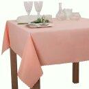 Tischdecke Abwaschbares Tischtuch Schmutzabweisend Tischdeko 100x100cm Rosa