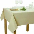 Tischdecke Abwaschbares Tischtuch Schmutzabweisend Tischdeko 110x140cm Elfenbein