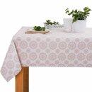Tischdecke Abwaschbares Tischtuch Leinenoptik Schmutzabweisend 80x80cm Beige