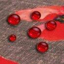 Tischdecke Abwaschbares Tischtuch Leinenoptik Schmutzabweisend Deko 90x90cm Rot