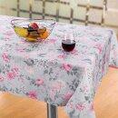 Tischdecke Abwaschbares Tischtuch Leinenoptik Schmutzabweisend 90x90 Rosa Ostern