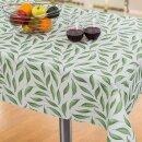 Tischdecke Abwaschbares Tischtuch Leinenoptik Schmutzabweisend 90x140cm Grün