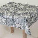 Tischdecke Abwaschbares Tischtuch Leinenoptik Schmutzabweisend 90x140cm Grau