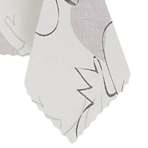 Tischdecke Abwaschbares Tischtuch Leinenoptik Schmutzabweisend 90x140cm Weiß