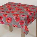 Tischdecke Abwaschbares Tischtuch Leinenoptik Schmutzabweisend 100x100cm Rot