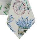 Tischdecke Abwaschbares Tischtuch Leinenoptik Schmutzabweisend 100x100cm Blau