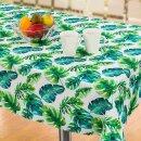 Tischdecke Abwaschbares Tischtuch Leinenoptik Schmutzabweisend 110x140cm Grün