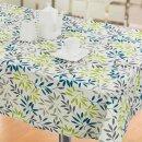 Tischdecke Abwaschbares Tischtuch Leinenoptik Schmutzabweisend 110x140cm Blau