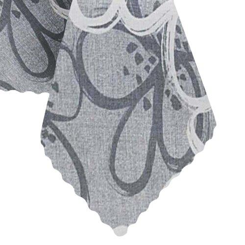 Tischdecke Abwaschbares Tischtuch Leinenoptik Schmutzabweisend 110x140cm Grau