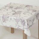 Tischdecke Abwaschbares Tischtuch Leinenoptik Schmutzabweisend 110x160cm Weiß