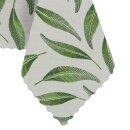 Tischdecke Abwaschbares Tischtuch Leinenoptik Schmutzabweisend 120x160cm Grün