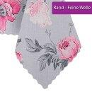 Tischdecke Abwaschbares Tischtuch Leinenoptik Schmutzabweisend 120x160cm Rosa