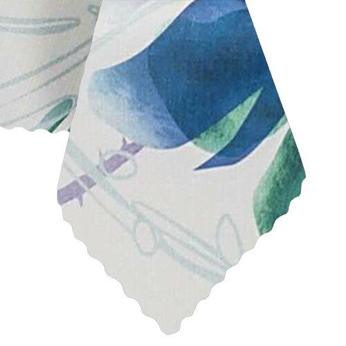 Tischdecke Abwaschbares Tischtuch Leinenoptik Schmutzabweisend 120x220cm Blau