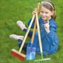 Gartenrechen Mini-Harke aus Qualitätsstahl Handrechen mit 8 Zinken 66cm Rot