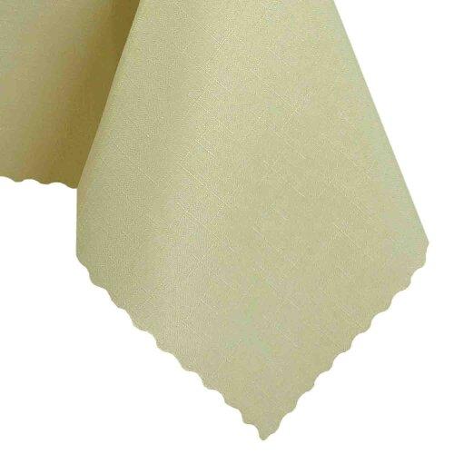Tischdecke Abwaschbares Tischtuch Schmutzabweisend Tischdeko 120x160cm Elfenbein