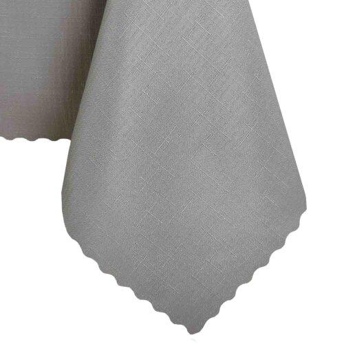 Tischdecke Abwaschbares Tischtuch Schmutzabweisend Wasserabweisend 120x220 Grau