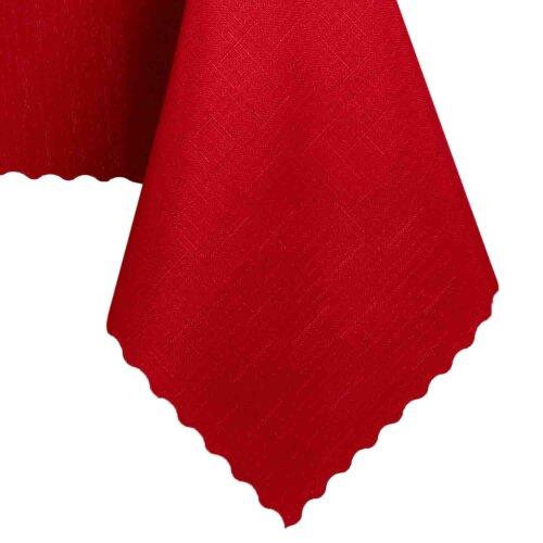 Tischdecke Abwaschbares Tischtuch Schmutzabweisend Wasserabweisend 130x160cm Rot