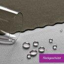 Tischdecke Abwaschbares Tischtuch Schmutzabweisend Tischdeko 130x160cm Graphit