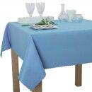 Tischdecke Abwaschbares Tischtuch Schmutzabweisend Wasserabweisend 130x160 Blau