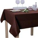 Tischdecke Abwaschbares Tischtuch Schmutzabweisend Tischdeko 140x180cm Braun